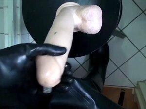 Gummi strømper, gummi vadere og store gummi Dildo